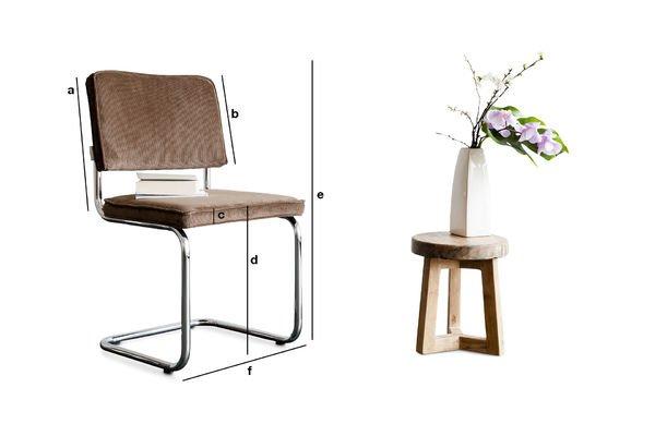 Produktdimensionen Stuhl Krömart Braun