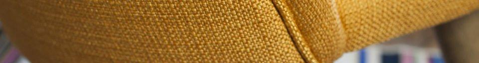 Materialbeschreibung Stuhl Lear Senffarben