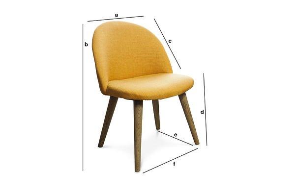 Produktdimensionen Stuhl Lear Senffarben