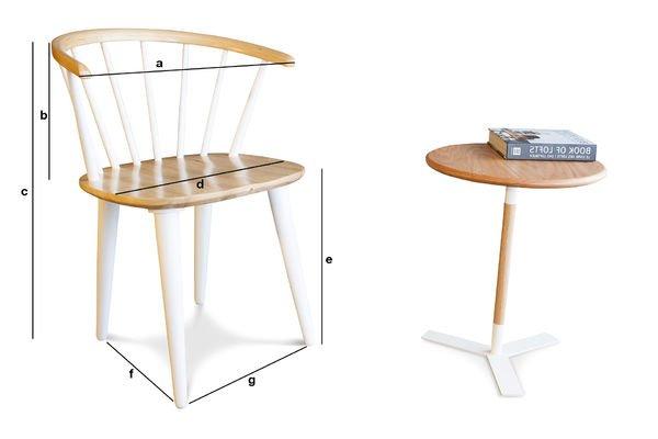 Produktdimensionen Stuhl Lidingö
