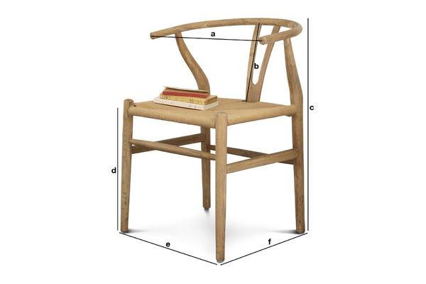 Produktdimensionen Stuhl Mänttä