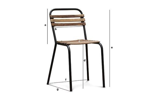 Produktdimensionen Stuhl Mistral