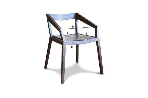 Produktdimensionen Stuhl mit Armlehnen Balkis