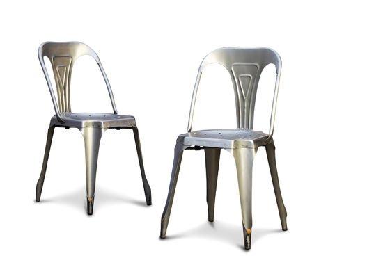 Stuhl Multipl's aus gebürstetem Edelstahl ohne jede Grenze