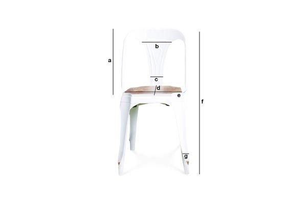 Produktdimensionen Stuhl Multipl's Weiß - Holz