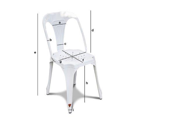 Produktdimensionen Stuhl Multipl's Weiß