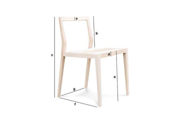 Produktdimensionen Stuhl Nöten extralight