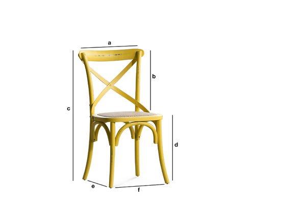 Produktdimensionen Stuhl Pampelune Gelb