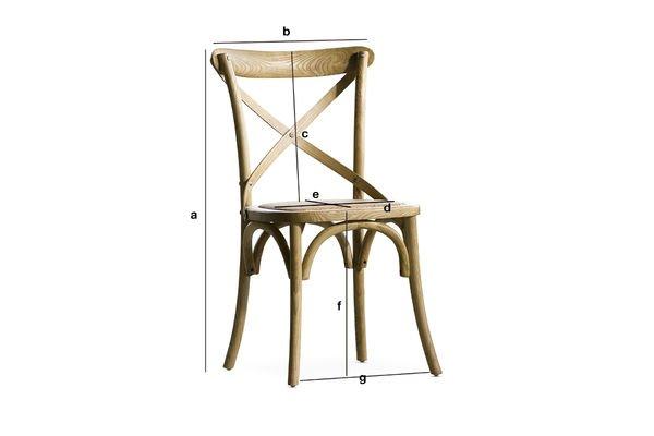 Produktdimensionen Stuhl Pampelune naturbelassene Verarbeitung