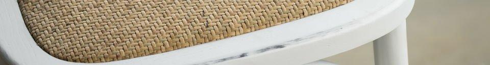 Materialbeschreibung Stuhl Pampelune Weiß