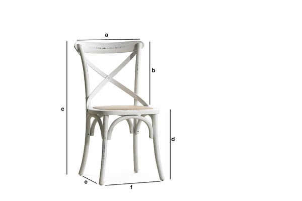 Produktdimensionen Stuhl Pampelune Weiß