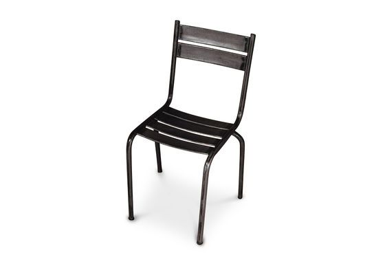 Stuhl Pretty aus Metal in dunkel lackiert ohne jede Grenze