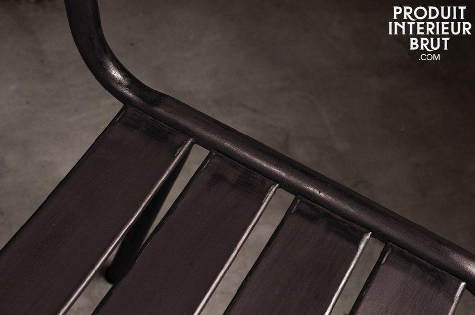Stuhl Pretty aus Metal in dunkel lackiert - 1