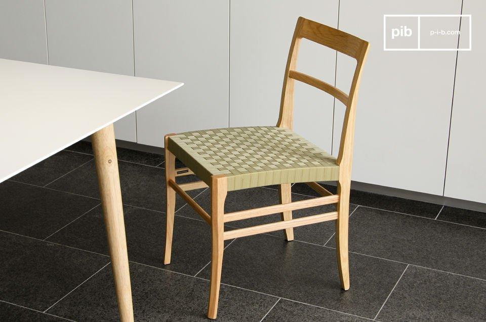 Stuhl samoht helles holz und geflochtener sitz f r eine for 1001 stuhl design