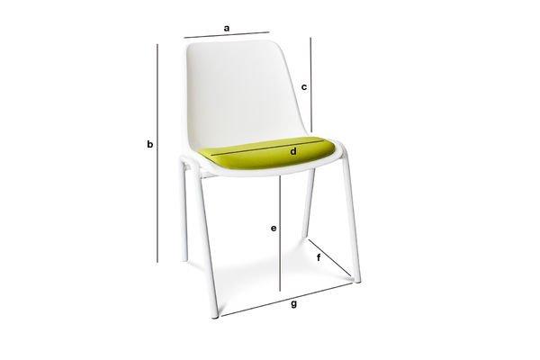 Produktdimensionen Stuhl Sören Grün