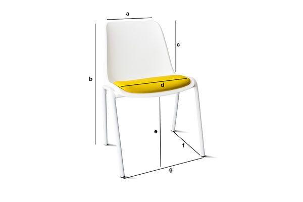 Produktdimensionen Stuhl Sören ocker