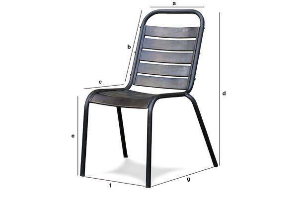 Produktdimensionen Stuhl Square