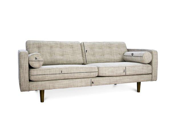 Produktdimensionen Svendsen Sofa großes Modell