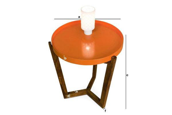 Produktdimensionen Tablett-Tisch Stockholm