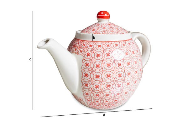 Produktdimensionen Teekanne Kennedy
