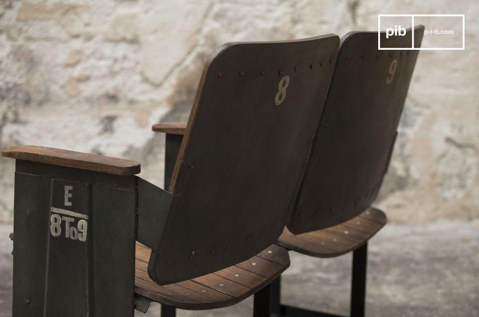 Ein Theaterstuhl 100 % Metall und Holz