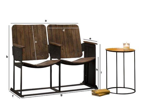 Produktdimensionen Theaterstuhl im Doppelpack