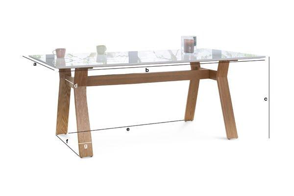 Produktdimensionen Tisch Augstü