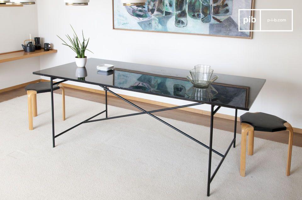 Tisch aus schwarzem Marmor Thorning - 3