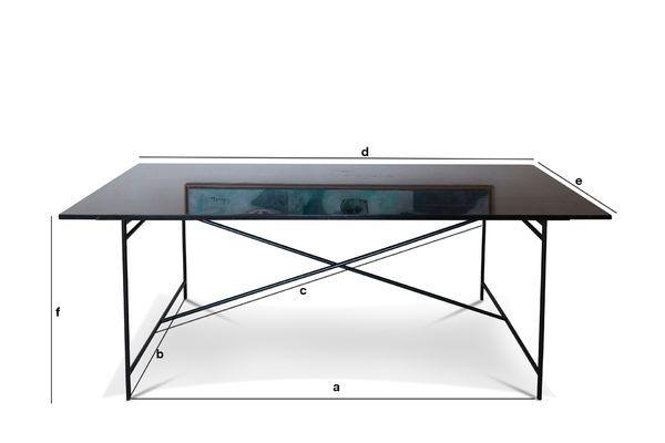 Produktdimensionen Tisch aus schwarzem Marmor Thorning