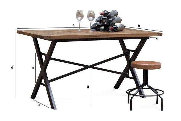 Produktdimensionen Tisch Cadé