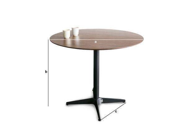 Produktdimensionen Tisch Daire
