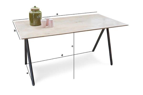 Produktdimensionen Tisch Jetson