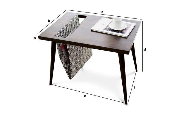 Produktdimensionen Tisch Londress