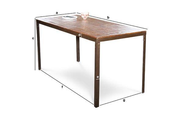 Produktdimensionen Tisch Masaï