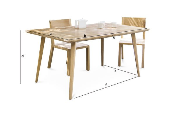 Produktdimensionen Tisch Möka