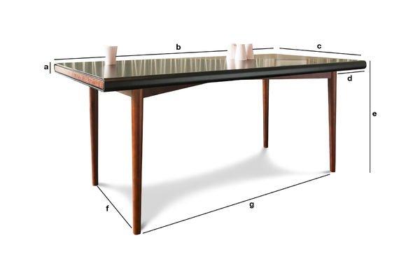Produktdimensionen Tisch Nordby
