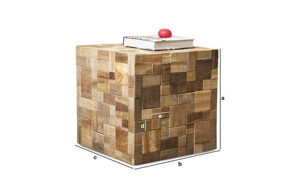 Produktdimensionen Tisch Rubique