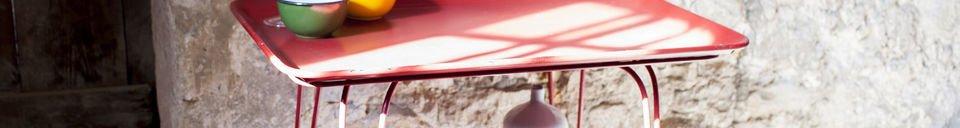 Materialbeschreibung Tisch Scarlet