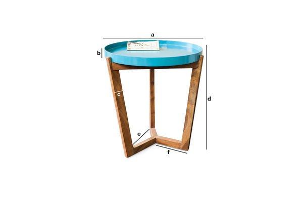Produktdimensionen Tisch Stockholm Türkis