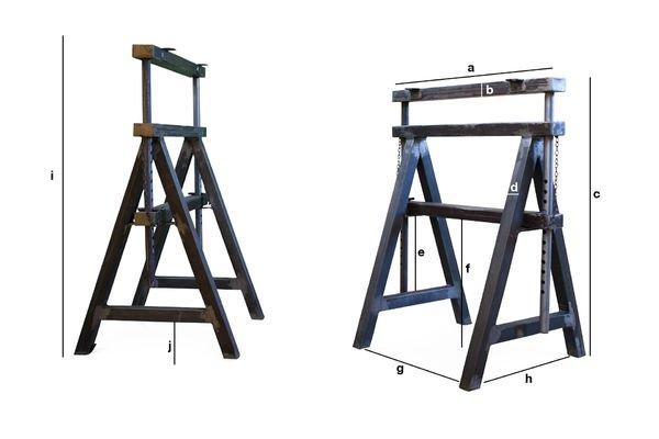 Produktdimensionen Tischbockpaar Ambolt