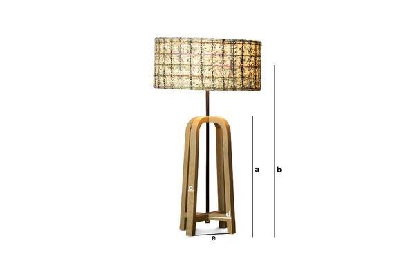 Produktdimensionen Tischlampe Andersen