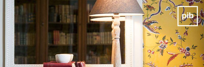 Tischlampe landhaus shabby chic bald zurück in der Sammlung