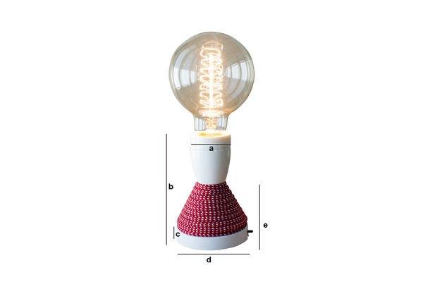 Produktdimensionen Tischlampe NUD