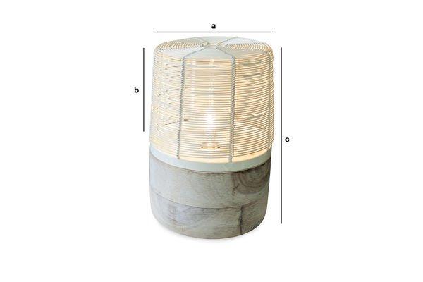 Produktdimensionen Tischleuchte Cistella