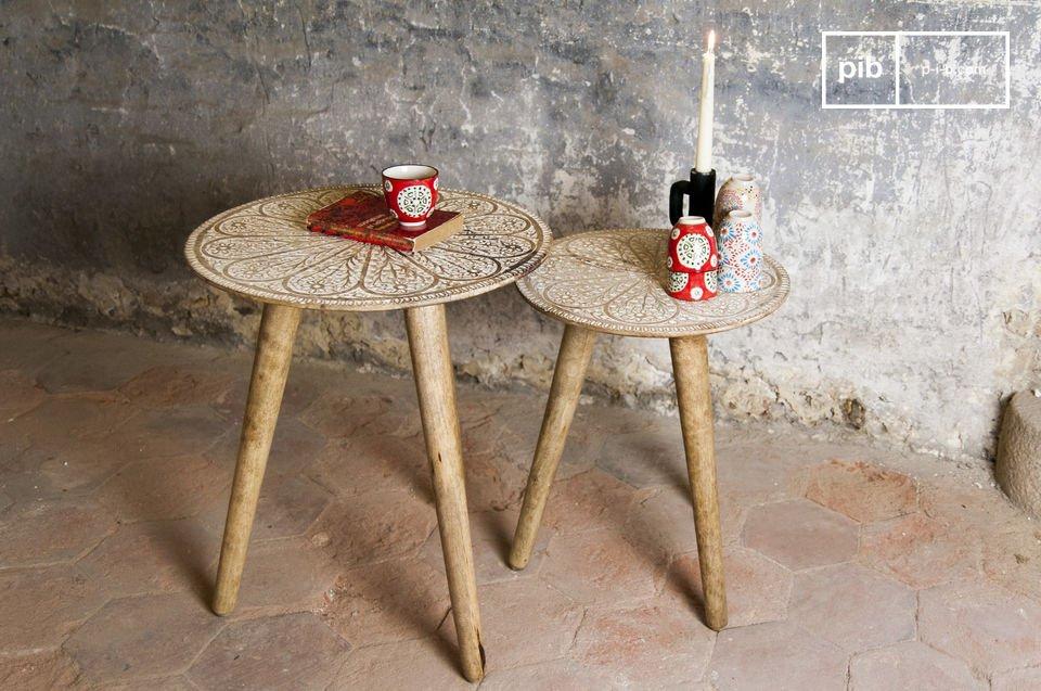 Das Tischset Minelle ist ein tolles Duo mit dem besonderen Charme der Shabby Chic Möbel