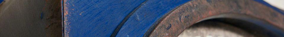 Materialbeschreibung Tischuhr Blue Cargo