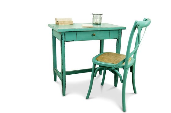 Türkisfarbener Tisch Lila ohne jede Grenze