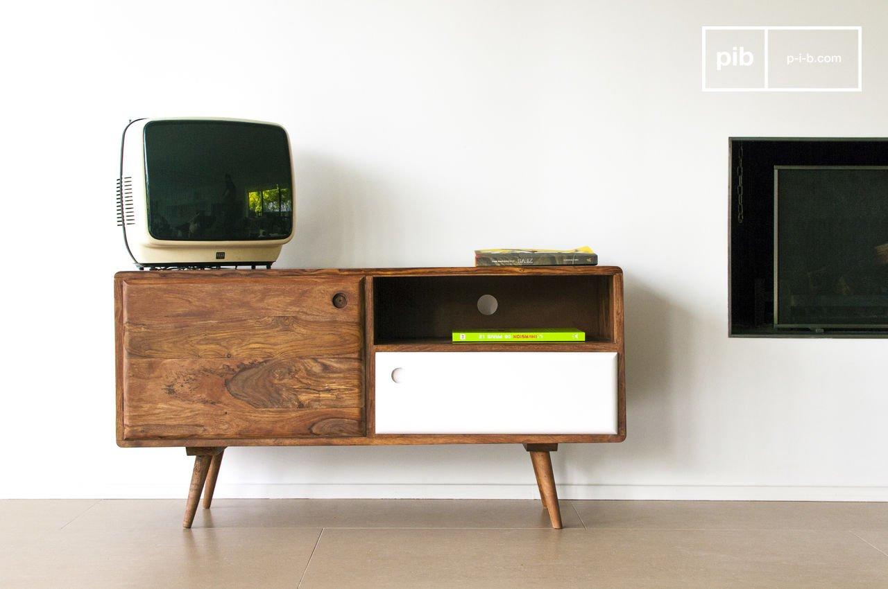 TV-Möbel 1969 - Retro-Linie, Naturfarbe und praktisch | pib