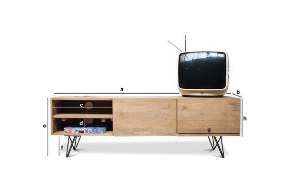 Produktdimensionen TV-Möbel aus Holz Zürich