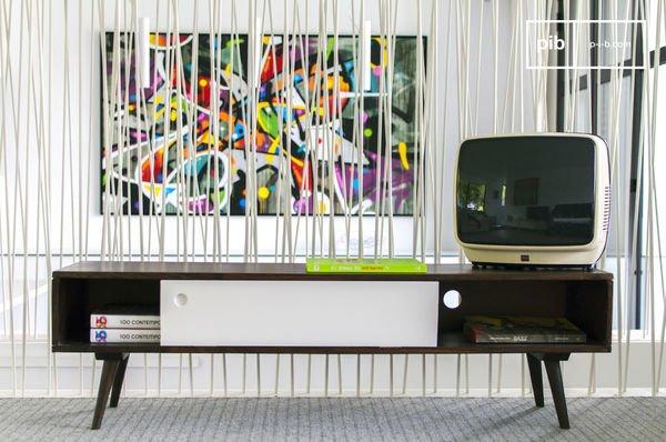 TV Möbel Brow'n White